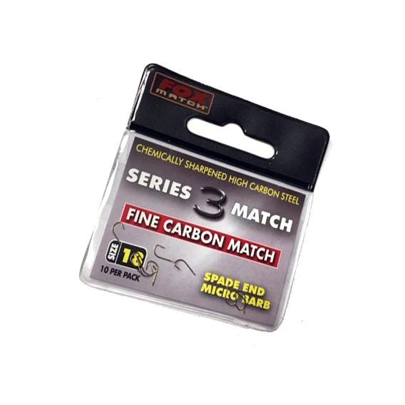 FOX Series 3 Fine Carbon Match 18 - háčiky