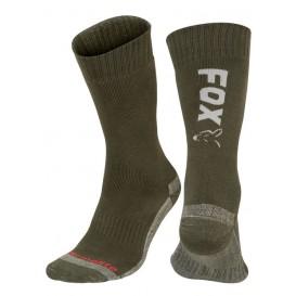 FOX Green/Silver Thermolite Socks - ponožky