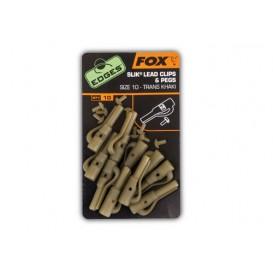 FOX EDGES Slik Lead Clips + Pegs - závesky na olovo