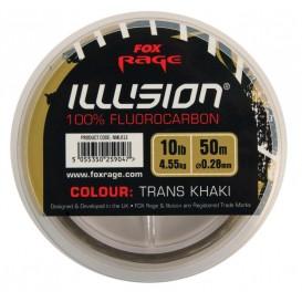 FOX RAGE Illusion Fluorocarbon Trans Khaki 0.25mm - 100% fluorokarbón