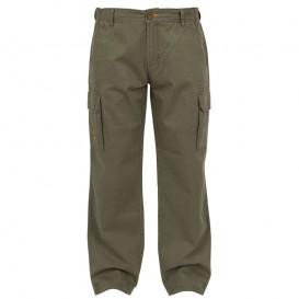 FOX Chunk Heavy Twill Cargo Pants Khaki - nohavice