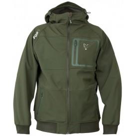 FOX Collection Green/Silver Shell Hoodie - softšelová bunda