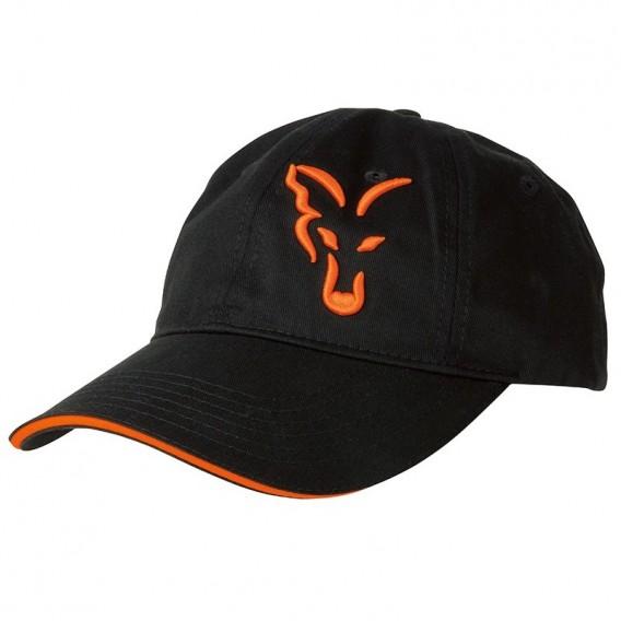 FOX Black/Orange Baseball Cap - šiltovka
