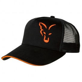 FOX Black/Orange Trucker Cap - šiltovka