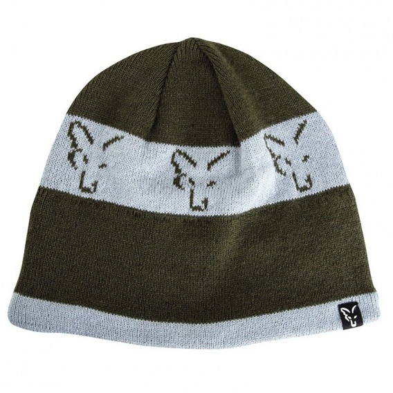 FOX Green/Silver Beanie - čiapka
