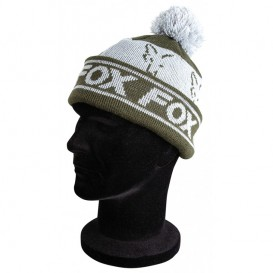 FOX Green/Silver Lined Bobble Hat - čiapka s brmbolcom