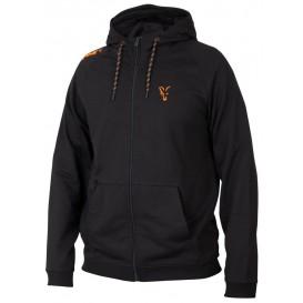 FOX Collection Black/Orange Lightweight Hoodie - mikina