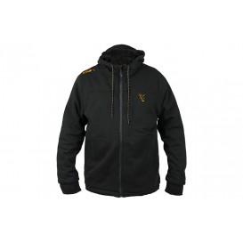 FOX Collection Black/Orange Sherpa Hoodie - zateplená mikina