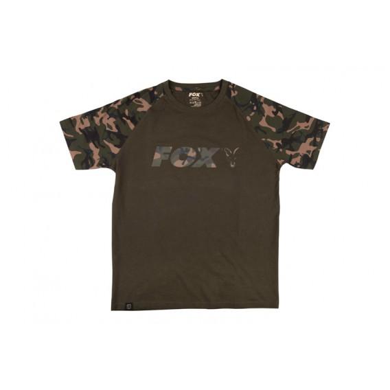 FOX Camo/Khaki Chest Print T-Shirt - tričko